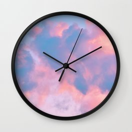 cotton candy cloud Wall Clock