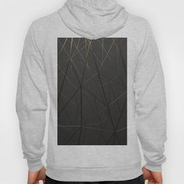 Golden Wireframe Triangles Hoody