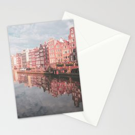 Colourful Amsterdam City in The Netherlands | Travel Photography Stationery Cards