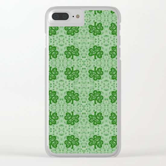 Irish Clover Clear iPhone Case