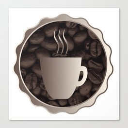 Roasted Coffee Cup Sign Canvas Print