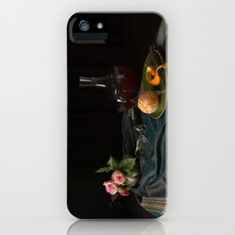 Orange and roses still life iPhone Case