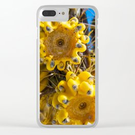 cholla fruit (still hanging on) Clear iPhone Case