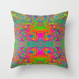 Psychedelic Spill 9 Throw Pillow