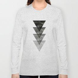 Geometric / Triangle Art Long Sleeve T-shirt