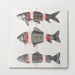 Sashimi All Metal Print