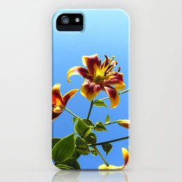Lilies in the Sky iPhone Case