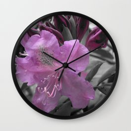 Lavender Rhododendron Wall Clock