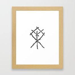 Rune Binding at Midnight Framed Art Print
