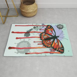 Leaking butterfly Rug