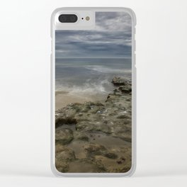 Reef and Sky at Swami's, Encinitas, California Clear iPhone Case