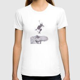 Ride on t-rex T-shirt