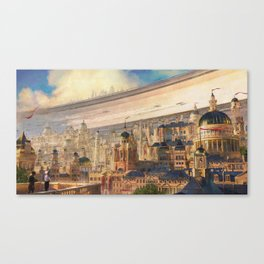 Racing Season in Empire City Canvas Print