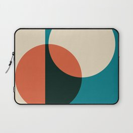bauhaus inspired geometric poster - Mid century modern, mid century wall art, mid century art, mid c Laptop Sleeve