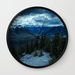 Mountain Storm Landscape Wall Clock