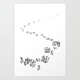 And So We Go Dancing Art Print