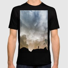 Cause and effect Black Mens Fitted Tee LARGE