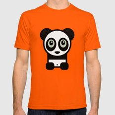 Panda Mens Fitted Tee Orange MEDIUM