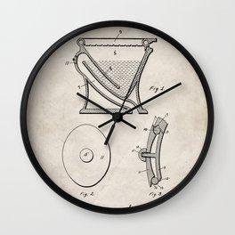 Toilet Patent - Bathroom Art - Antique Wall Clock