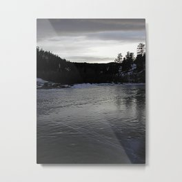 Ice Pond Metal Print