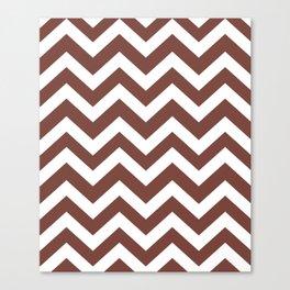 Bole - violet color - Zigzag Chevron Pattern Canvas Print