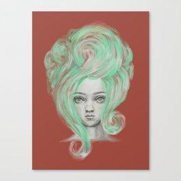 Green wig Canvas Print