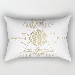 Golden Goddess Mandala Rectangular Pillow