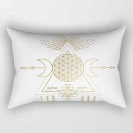 Golden Goddess Mandala Rectangular Pillow