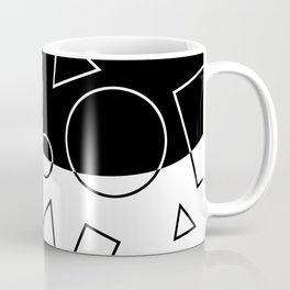 Black and White Geometric Shapes Wave Coffee Mug