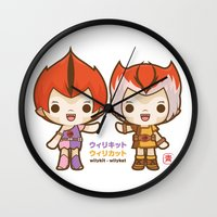 thundercats Wall Clocks featuring Willykit & Willykat - 2 by Azul Piñeiro