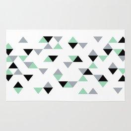 Triangles Mint Grey Rug