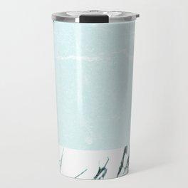 Marble & concrete - soft aqua Travel Mug