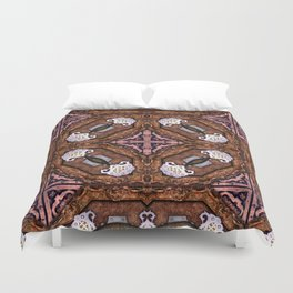 Victorian Art Deco Medieval Pattern dark brown SB34 Duvet Cover