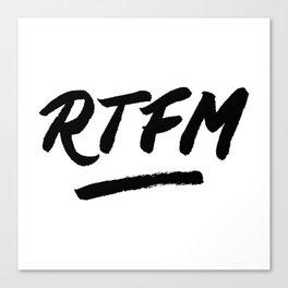 RTFM Canvas Print
