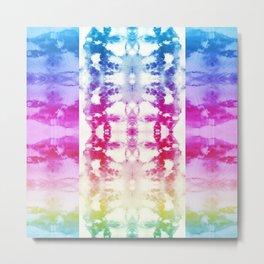 Tie Dye Rainbow Metal Print