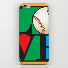 Love Baseball iPhone & iPod Skin