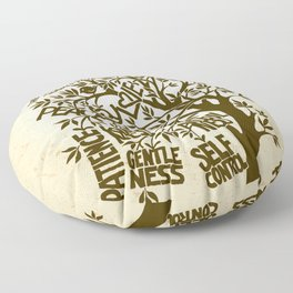 Fruit of the Spirit (Monotone) Floor Pillow