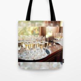 Wedding banquet champagne glasses Tote Bag