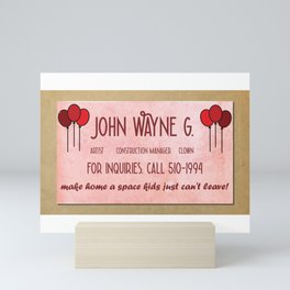 John Wayne G's Card Mini Art Print