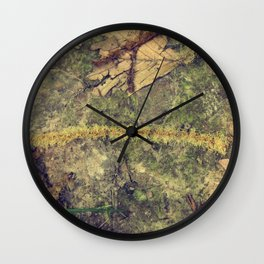 Wird plant texture Wall Clock