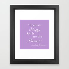 Happy Girls - Periwinkle Framed Art Print