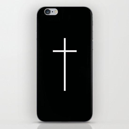 Christian Cross Black iPhone & iPod Skin