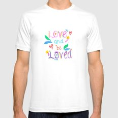 Love and be Loved White MEDIUM Mens Fitted Tee