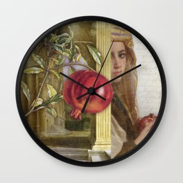 The Pomegranate Eater Wall Clock