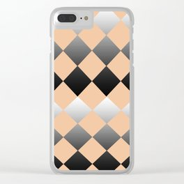 Just Peachy Gradient Diamonds Clear iPhone Case
