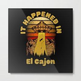 Alien UFO In El Cajon City Metal Print