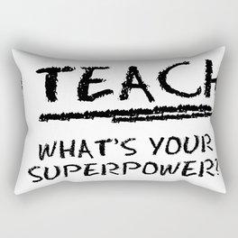 teach Rectangular Pillow