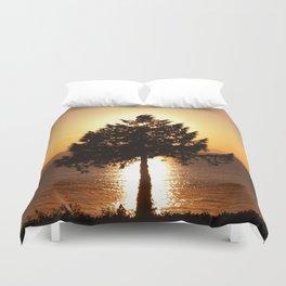 Summer Sunset Tree  Duvet Cover