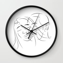 Face Love Wall Clock