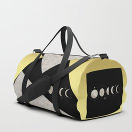 Elegant Abstract Gold Moon Phases Duffle Bag